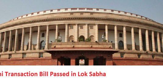 Benami transactions bill passed in lok sabha